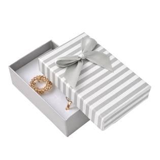 Krabička na soupravu šperků, šedé pruhy