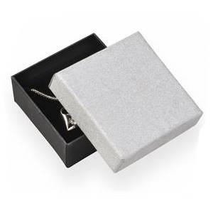 Krabička na soupravu šperků, stříbrná/černá