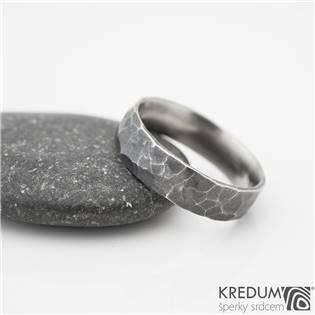 KS1040-SF Pánský snubní ocelový prsten Draill