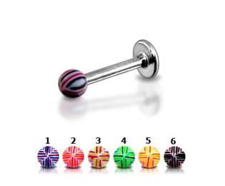Labreta kulička akrylát - MIX barev
