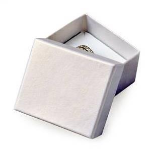 Malá dárková krabička na prsten - stříbřitě šedá