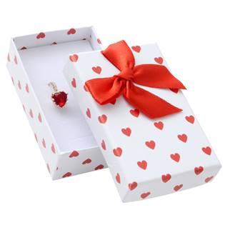 Malá dárková krabička na soupravu - bílá