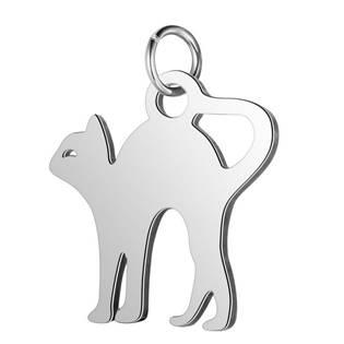 Malý ocelový přívěšek kočička