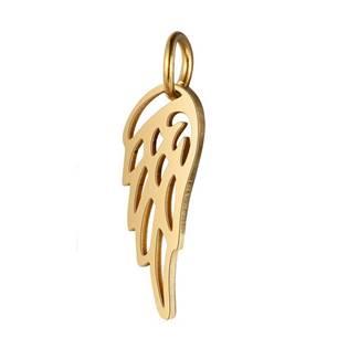 Malý zlacený ocelový přívěšek andělké křídlo