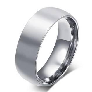 Matný ocelový prsten, šíře 8 mm