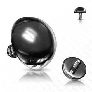 Microdermal - ozdobná část - půlkulička černá, 2 mm