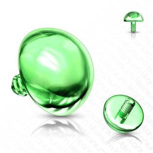 Microdermal - ozdobná část - půlkulička zelená
