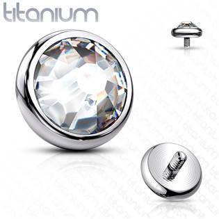 Náhradní kamínek k dermálu TITAN, závit 1,6 mm, 3mm, barva: čirá