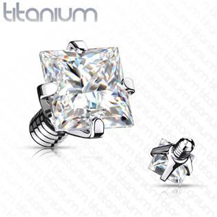 Náhradní kamínek k dermálu TITAN, závit 1,6 mm, 4mm, barva: čirá