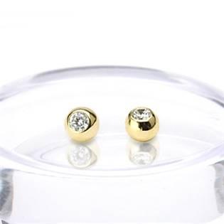 Náhradní kulička zlatá 1,6 x 4 mm, 585/1000