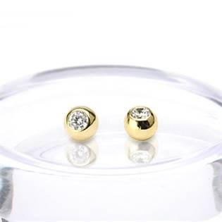 Náhradní kulička, žluté zlato 1,6 x 3 mm, 585/1000