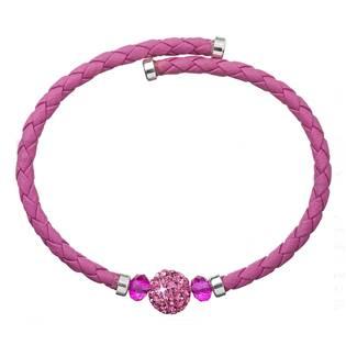 Náramek s krystaly Crystals from Swarovski® růžový