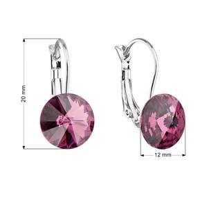 Náušnice bižuterie s Crystals from Swarovski®, AMETHYST