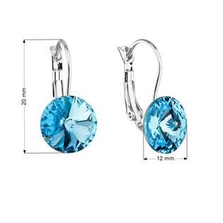 Náušnice bižuterie s Crystals from Swarovski® AQUAMARINE