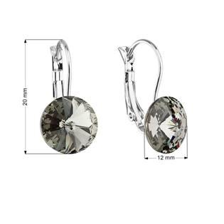 Náušnice bižuterie s Crystals from Swarovski® BLACK DIAMOND