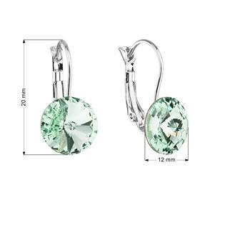 Náušnice bižuterie s Crystals from Swarovski® CHRYSOLITE