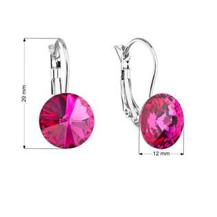 Náušnice bižuterie s Crystals from Swarovski® FUCHSIA
