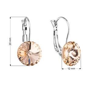 Náušnice bižuterie s Crystals from Swarovski® LIGHT PEACH