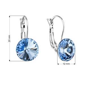 Náušnice bižuterie s Crystals from Swarovski® LIGHT SAPPHIRE