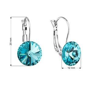 Náušnice bižuterie s Crystals from Swarovski® LIGHT TURQUOISE