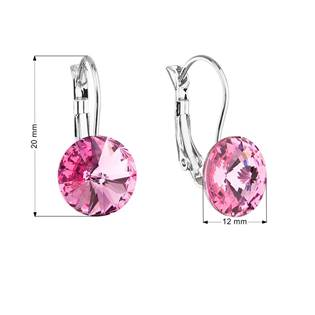 Náušnice bižuterie s Crystals from Swarovski® ROSE