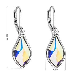 Náušnice bižuterie se Swarovski krystaly AB efekt kapka 51056.2