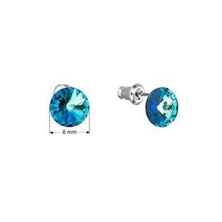 Náušnice bižuterie se Swarovski krystaly, Bermuda Blue