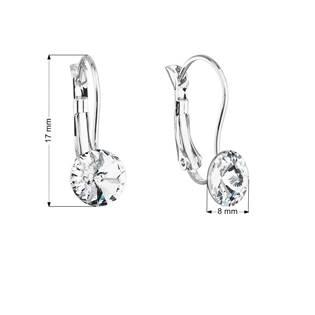 Náušnice bižuterie se Swarovski krystaly bílé kulaté 51031.1