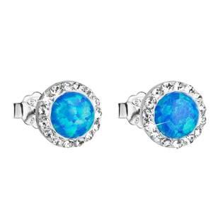 Náušnice s kamínky Crystals from Swarovski® a opály, Blue