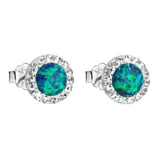 Náušnice s kamínky Crystals from Swarovski® a opály, Green