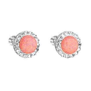 Náušnice s kamínky Crystals from Swarovski® oranžový opál