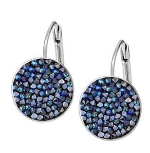 Náušnice s krystaly Crystals from Swarovski® BERMUDA BLUE