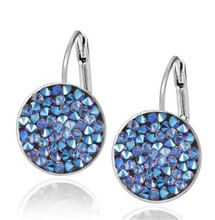 Náušnice s krystaly Crystals from Swarovski® BLUE SHIMMER