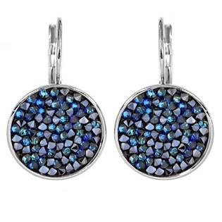 Náušnice s krystaly Crystals from Swarovski® BLUELIZED