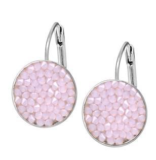 Náušnice s krystaly Crystals from Swarovski® ROSE WATER OPAL