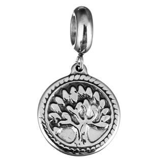Navlékací ocelový korálek s přívěškem strom života
