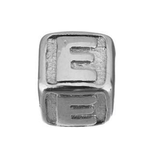 """Navlékací ocelový přívěšek korálek - písmeno """"E"""""""