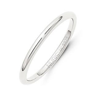 NB101-2 Stříbrný snubní prsten šíře 2 mm