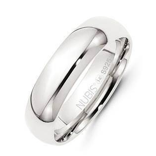 NB101-6 Stříbrný snubní prsten šíře 6 mm