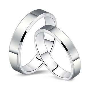 NB105 Dámský stříbrný snubní prsten šíře 3 mm