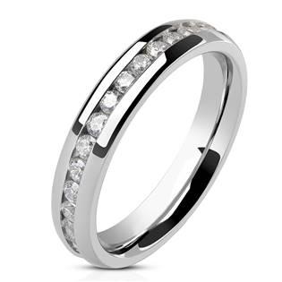 NSS1004 Dámský snubní prsten se zirkony