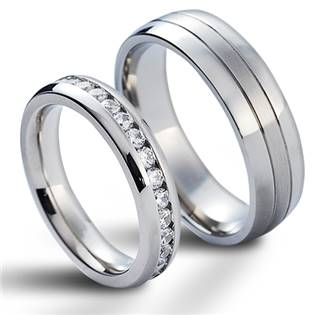 NSS1004 Snubní prsteny chirurgická ocel - pár