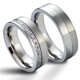 NSS1012 Snubní prsteny chirurgická ocel - pár