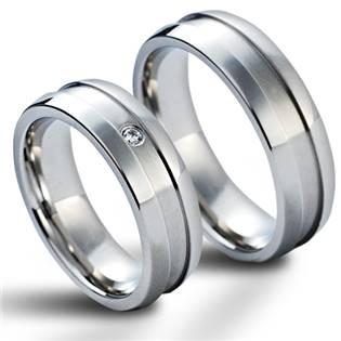 NSS1016 Snubní prsteny chirurgická ocel - pár