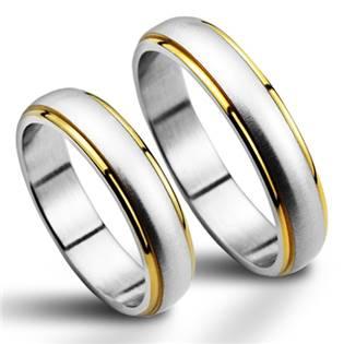 NSS1020 Snubní prsteny chirurgická ocel - pár