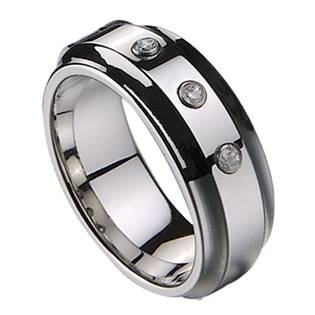 NWF1004 Dámský snubní prsten se 3mi zirkony
