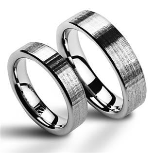NWF1009 Wolframové snubní prsteny - pár
