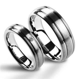 NWF1013-Zr Wolframové snubní prsteny - pár