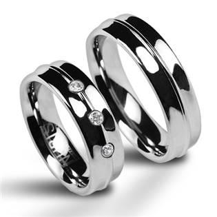 NWF1023 Dámský snubní prsten wolfram se zirkony