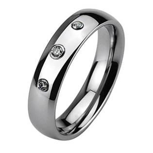 NWF1025 Dámský snubní prsten, 3 zirkony